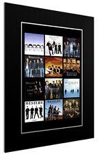 More details for mounted / framed print westlife discography 3 sizes poster gift artwork  pop