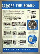 Gray Marine Boat Engine Motor PRINT AD - 1948 ~ Graymarine