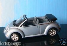 VW NEW BEETLE CABRIO 2003 SILVER BLUE METALLIC 1/43 NEW