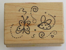 Butterfly LADYBUG Rubber Stamp Flying Insects Great Impressions DIY Crafts Cards