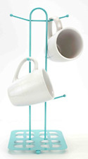 Mug Tree Holder 6 Cups Coffee Tea Cup Rack Storage Stand Organization Six Mugs