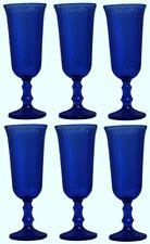Set of 6 Blue Stemmed Champagne Flutes Liquor Goblets 130ml Capacity
