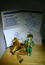 GI JOE 1986 SERPENTOR &  AIR CHARIOT W/ BLUEPRINTS VINTAGE ORIGINAL