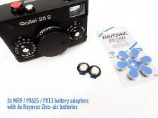 2x Batterieadapter MR9 / PX625 / PX13 für Analogkamera und Belichtungsmesser