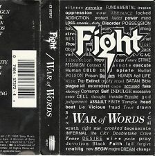 War Of Words by Fight (Cassette Sep-1993, Epic) Version: ET 57372 Mini-Poster