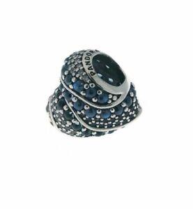 Genuine PANDORA Bead Aqua Heart Charm Openwork 797015NABMX