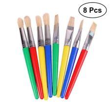 8Pcs DIY Paint Brushes Children Kids Pencil Set for Beginner Painting Practice