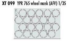 Eduard 1/35 YPR765 RUOTA maschere # XT099