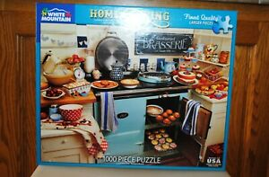 White Mountain 1000 Piece Puzzle Home Cooking  Complete  2020