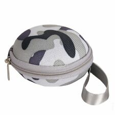 EARPHONE CASE PURSE COIN HOLDER HEARING AID GREY CAMOUFLAGE UK SELLER!!