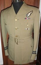 Named WWII RCAF Summer Uniform with Ribbons, UK-Made & Unknown 'W' Wings