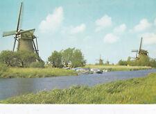 The Nederwaard Polder Kinderdijk The Netherlands Postcard Unused VGC