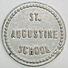 VINTAGE LEBANON KY ALUM. TOKEN - ST. AUGUSTINE CATHOLIC SCHOOL, GOOD FOR 1 LUNCH