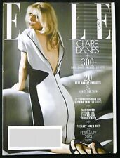Elle Magazine Feb 2013 - Claire Danes - Lazy Girls Diet - Best Makeup Products