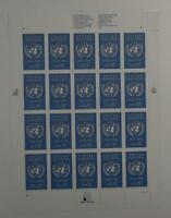 US SCOTT 2974 PANE OF 20 UNITED NATIONS STAMPS 32 CENTS FACE MNH