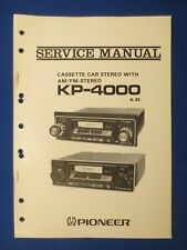 Pioneer KP-4000 Cassette Service Manual Factory Original The Real Thing