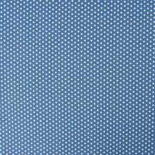 Tissu de Coton Mini Étoiles Bleu de Jeans Blanc 1,40m Largeur