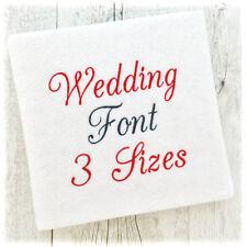 WEDDING ALPHABET FONT MACHINE EMBROIDERY DESIGNS - 3 SIZES - IMPFCD42