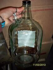 ONE-clear glass 1 gallon/4 liter Wine jug / Carboy with handle WITH / lid