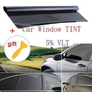 Tint Tinting Film 5% VLT Roll Black Pro For Car Home Glass 50 X 100cm New
