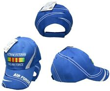 U.s. Air Force Vietnam Vet Veteran Ribbon Blue Embroidered Ball Cap Hat