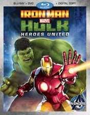 Iron Man & Hulk: Heroes United (Blu-ray/DVD/Digital Copy) New Sealed