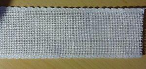 Stickband Aidastoff weiß mit weißen Rand 5 cm  7107/1  1 Meter
