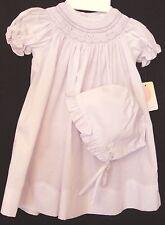 Petit Ami 5508 Lavender Dress, Smocked Neckline,Bonnet,Panty. Preemie Girl ..