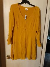 Old Navy-Women's Size 18-New With Tags-Dark Yellow/Mustard Dress