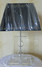 Contemporary Glass Table Lamp Base