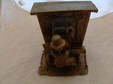 Vintage Metal Piano Man Music Box~Plays Happy Days Are Here Again