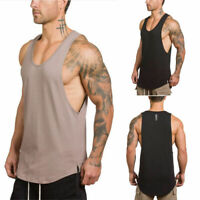 Gym Mens Sleeveless Bodybuilding Tank Top Muscle Sports Athletic Fittness Shirt