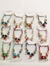 Wholesale 12 Pcs Lots Mix Colors Roses Style Charm String Bracelet Bangle Set