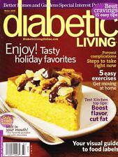 Diabetic Living Magazine Winter 2008 Issue w/ Recipes Exercises & Articles Vol 5
