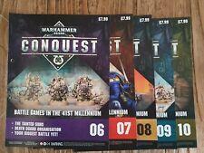 Warhammer 40,000 CONQUEST Binder Magazines. Issue 06 - 10 (No figures)