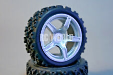 RC Car 1/10  RALLY WRC WHEELS TIRES Package  5 STAR  3MM OFFSET  -Assembled-
