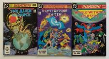 Invasion #1 to #3 complete (DC 1988) FN+ condition issues