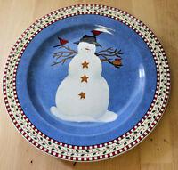 Sakura Snowman Salad Plate Debbie Mumm #4 Snowman Hat with Birds Oneida Division