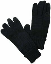 Van Heusen Men's One Size Navy Cable Knit Smart Touch Glove NEW $24