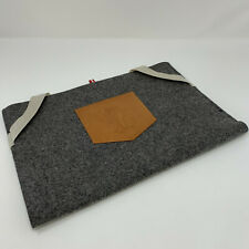 "Hard Graft laptop case 13"" Apple macbook air, macbook, wool felt and leather"