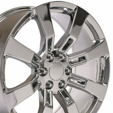 Ck375 Chrome 22 Wheels Set4 Fit Escalade Tahoe Yukon Suburban Silverado 5409