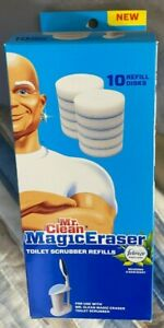Mr. Clean Magic Eraser Toilet Scrubber Refills Febreze Meadows & Rain Scent NEW