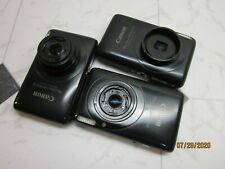 LOT OF 3 Canon PowerShot Digital ELPH SD1400 IS Camera FOR PARTS or REPAIRS