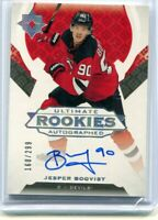 2019-20 Ultimate Collection Adam Boqvist Ultimate Rookies Autograph /299 On Card