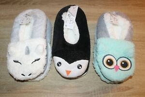 NEW Fuzzy Babba Women's Critter Slippers - Size 7-9.5 - Unicorn, Penguin or Owl
