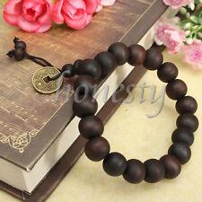 5pcs Wood Mala Buddha Buddhist Prayer Bead Tibet Bracelet Bangle Wrist Ornament