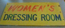 Women's Dressing Room Amusement Park Wood Sign Department Store Williams Grove?