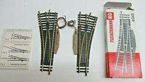 Fleischmann H0 6044 6045 Model Track Points Pair of Switches R/L Tested Boxed