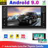 "7"" 2DIN Android 9.0 Car Stereo Bluetooth HD MP5 Player GPS Navigation For TOYOTA"
