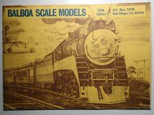 Balboa Scale Models Catalogue -  5th Edition   -  HO Brass Locomotives 1969?
